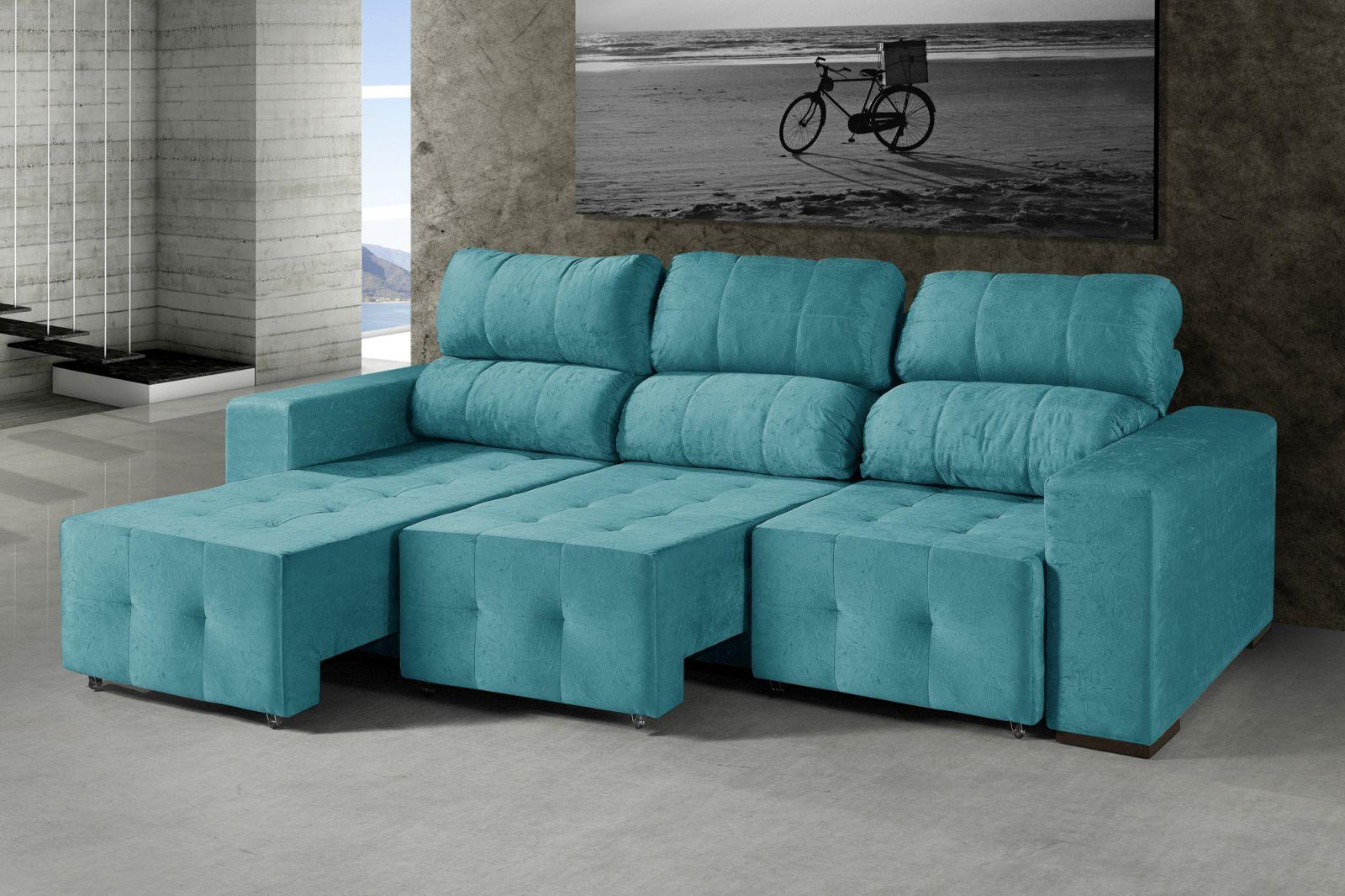 Sofa azul turquesa idea de la imagen de inicio for Chaise longue azul turquesa