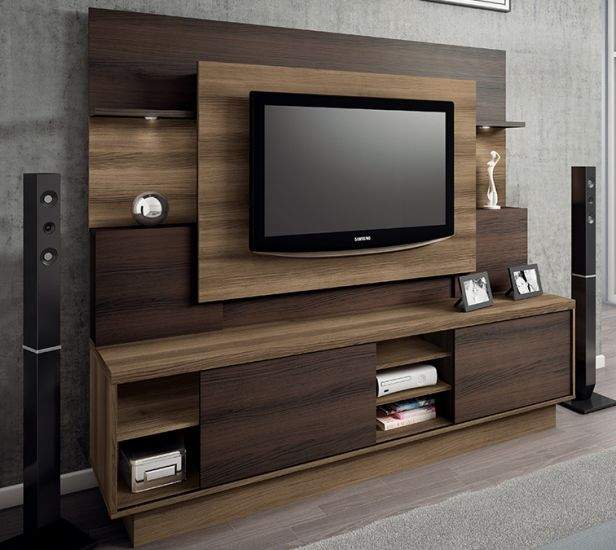 Home Theater Designs Furniture And Decorating Ideas: Estante Home Theater Para TV De Até 55 Polegadas Línea